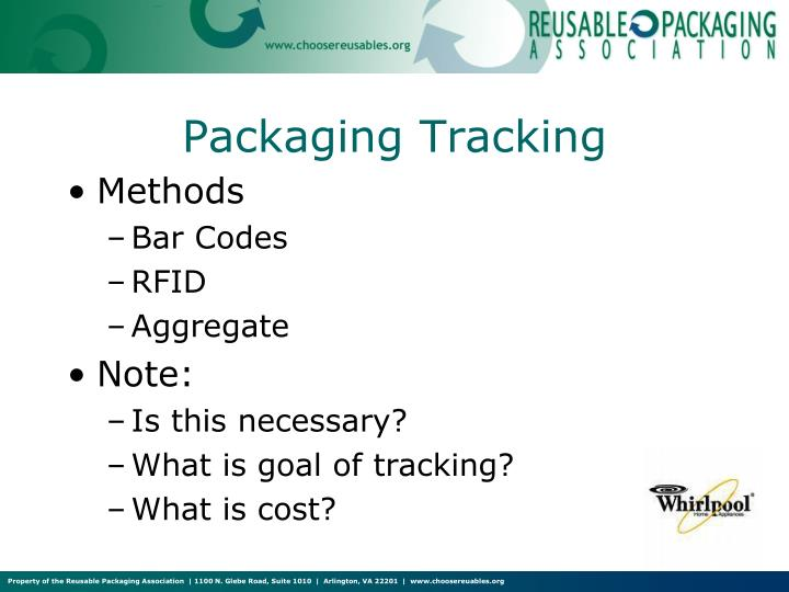 Packaging Tracking