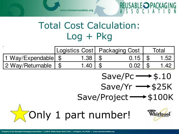 Save/Pc       $.10