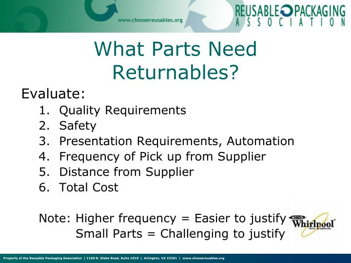 What Parts Need Returnables?