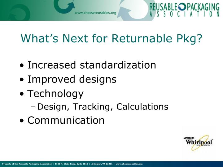 What's Next for Returnable Pkg?