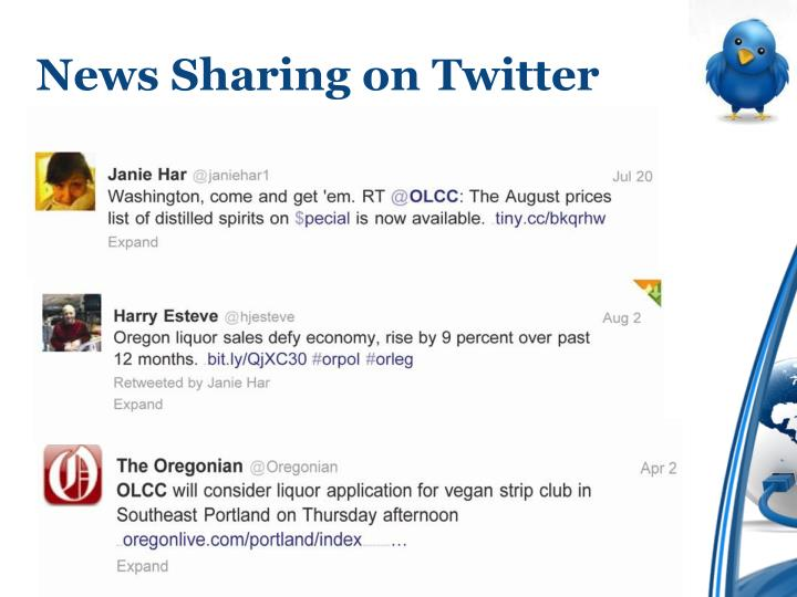 News Sharing on Twitter