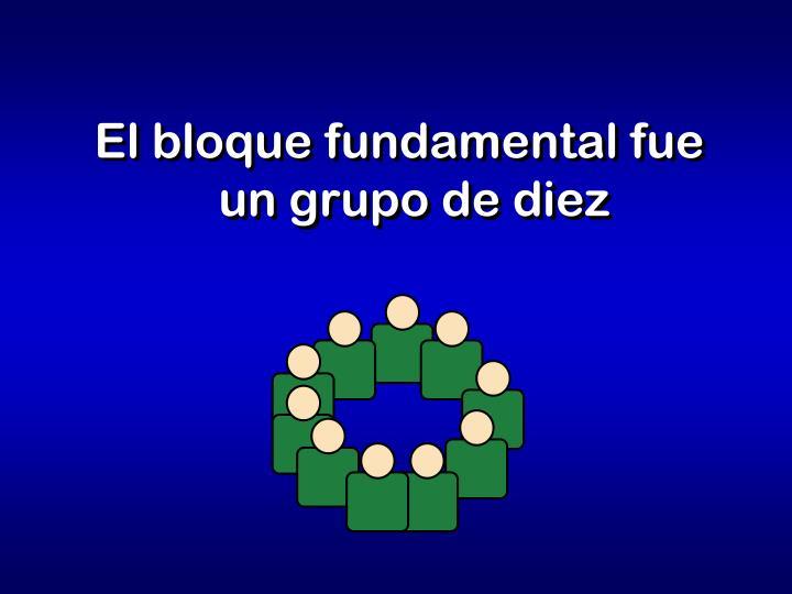 El bloque fundamental fue un grupo de diez