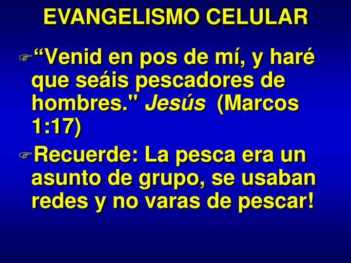 EVANGELISMO CELULAR