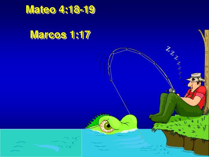 Mateo 4:18-19