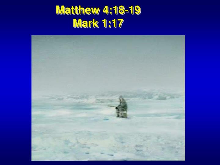 Matthew 4:18-19