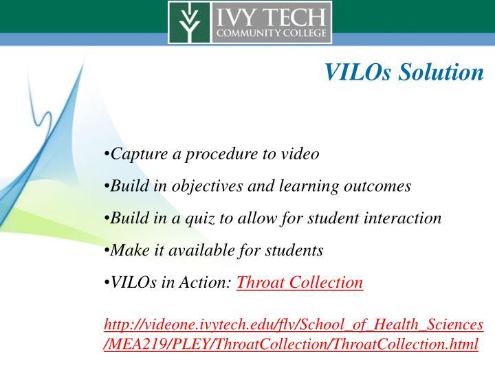 VILOs Solution