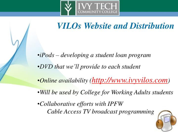 VILOs Website and Distribution