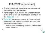 eia 232f continued