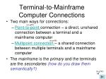 terminal to mainframe computer connections