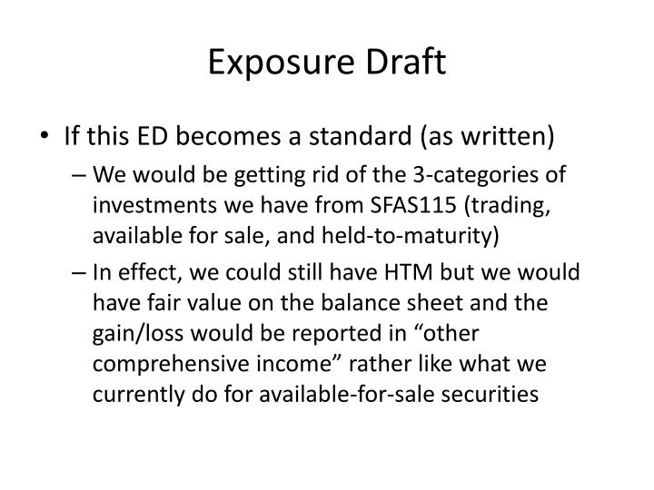 Exposure Draft