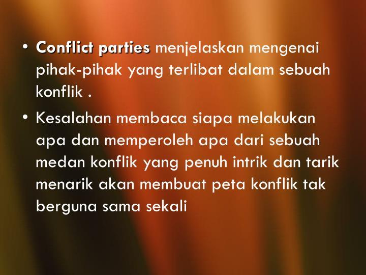 Conflict parties