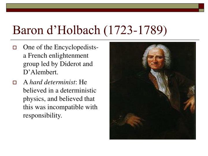 Baron d'Holbach (1723-1789)