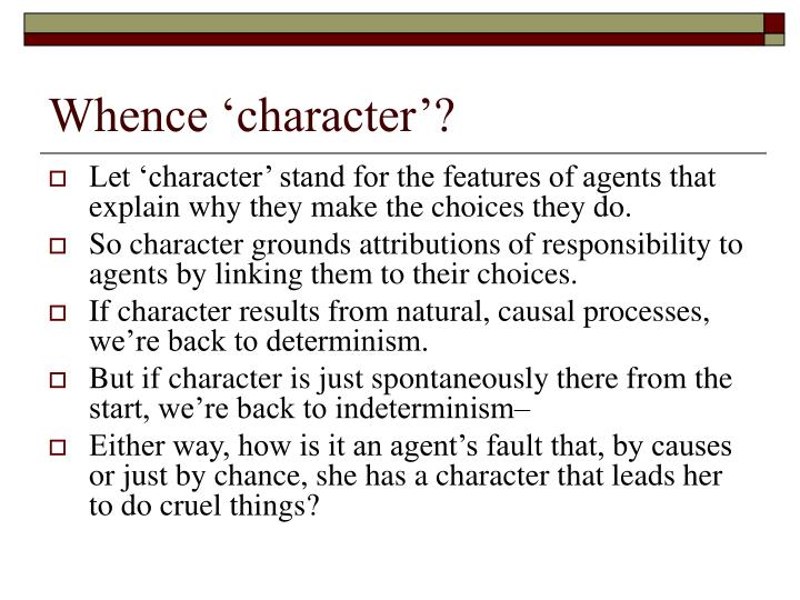 Whence 'character'?