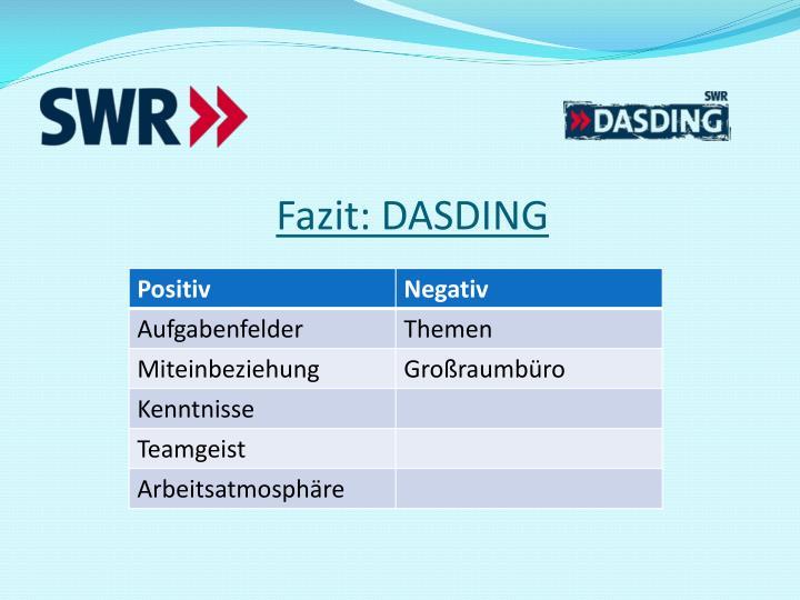 Fazit: DASDING