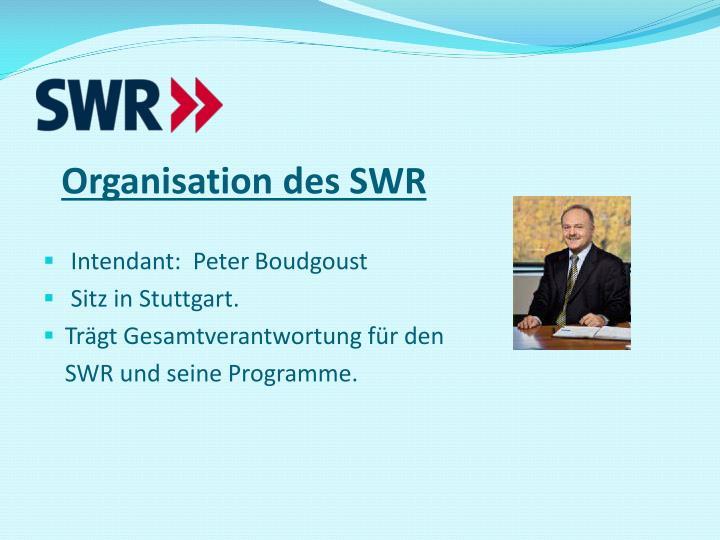 Organisation des SWR