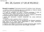 art 14 commi 17 20 dl 95 2012