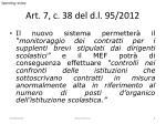 art 7 c 38 del d l 95 2012
