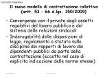 il nuovo modello di contrattazione collettiva artt 53 66 d lgs 150 2009