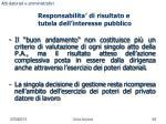 responsabilita di risultato e tutela dell interesse pubblico