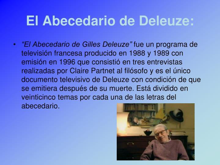 El Abecedario de Deleuze: