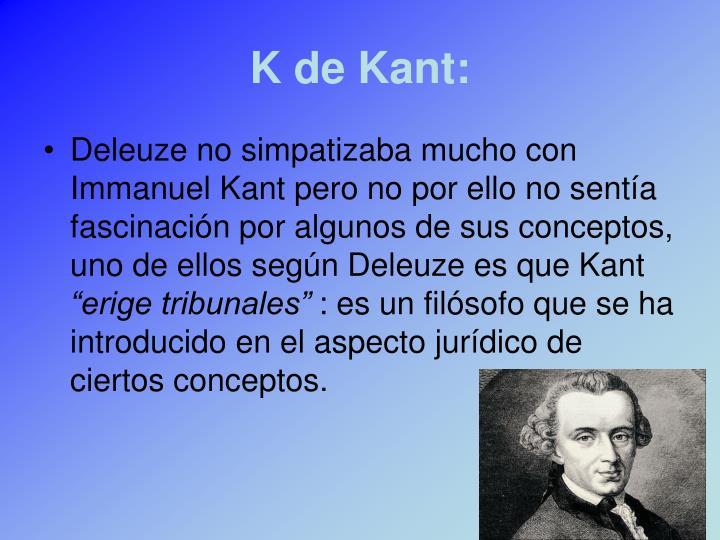 K de Kant: