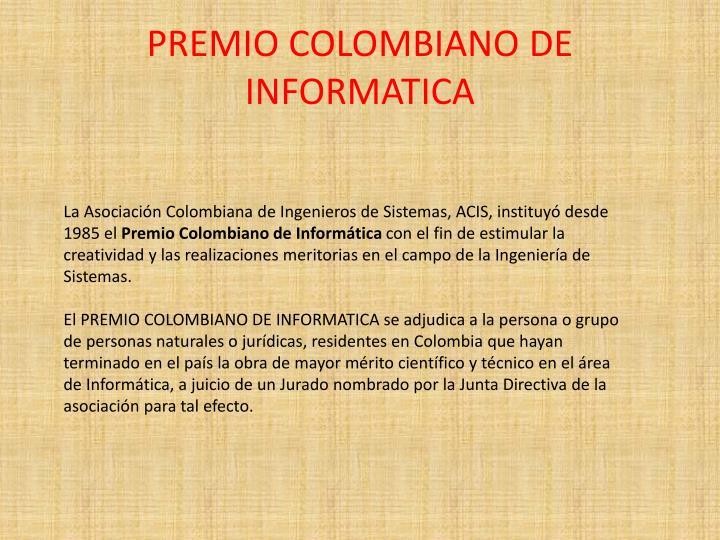 PREMIO COLOMBIANO DE INFORMATICA