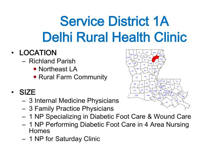 Service district 1a delhi rural health clinic