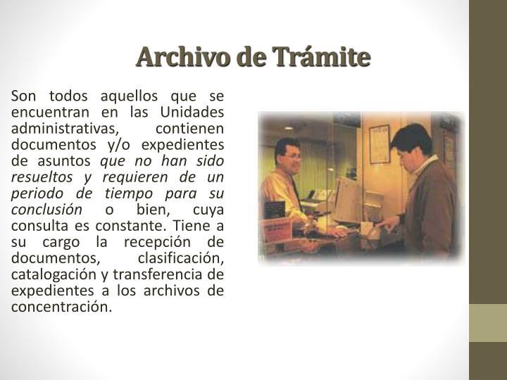Archivo de Trámite