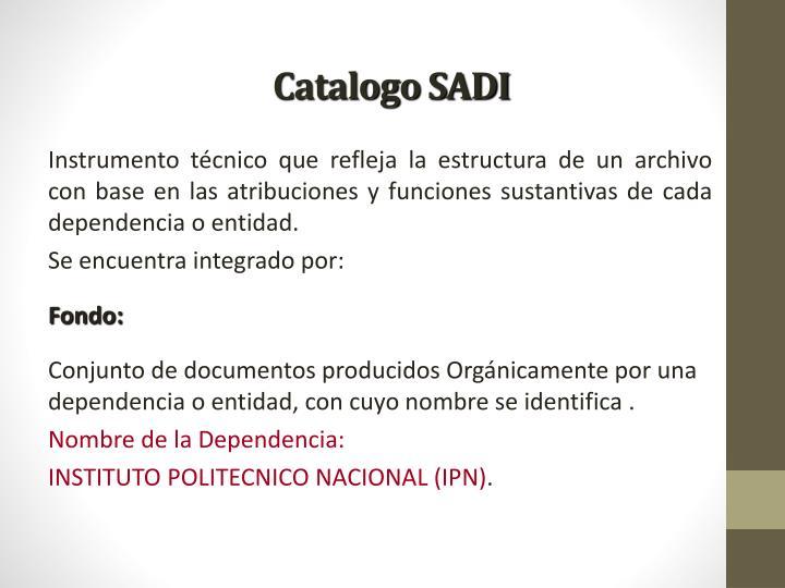 Catalogo SADI