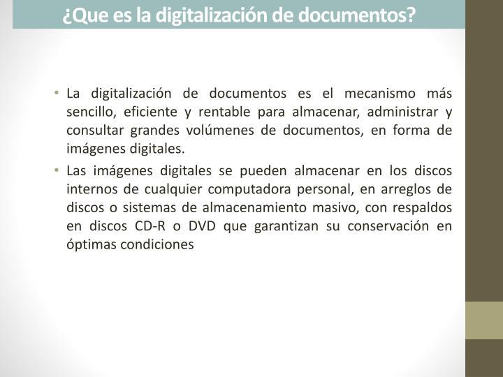 ¿Que es la digitalización