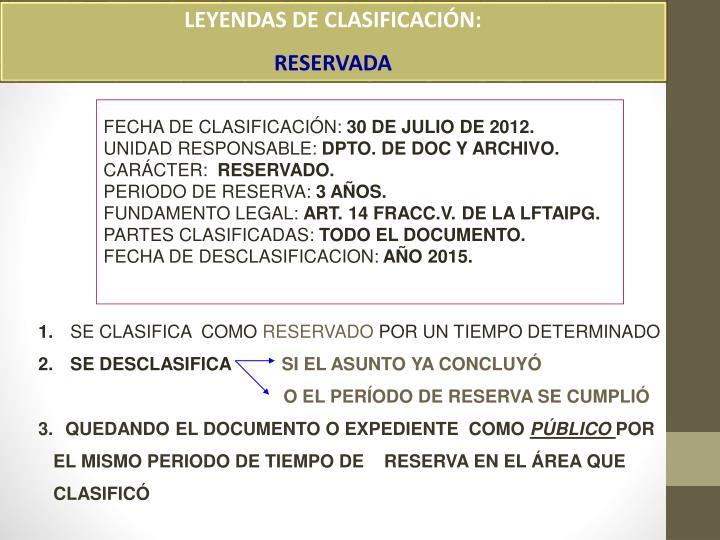LEYENDAS DE