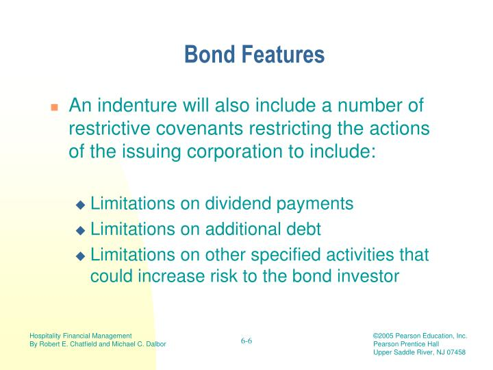 Bond Features
