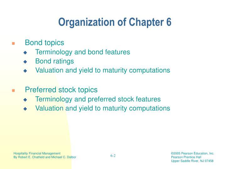 Organization of Chapter 6