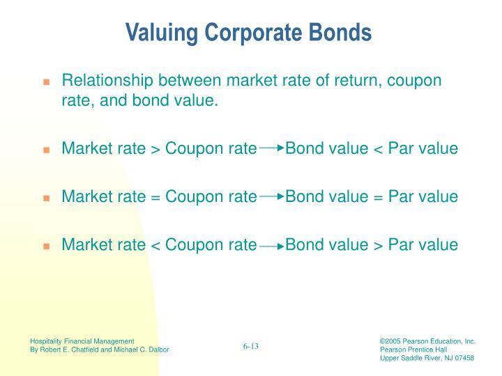 Valuing Corporate Bonds