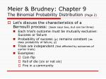 meier brudney chapter 9 the binomial probability distribution page 2