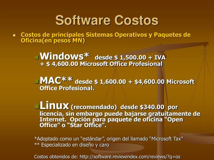 Software Costos
