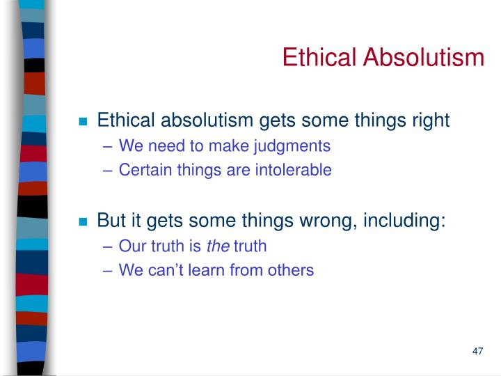 Ethical Absolutism