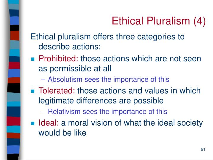 Ethical Pluralism (4)