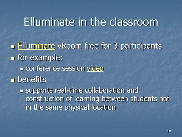 Elluminate in the classroom