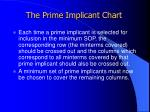 the prime implicant chart2