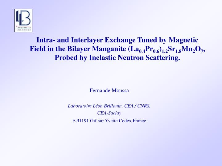 Intra- and Interlayer Exchange Tuned by Magnetic Field in the Bilayer Manganite (La