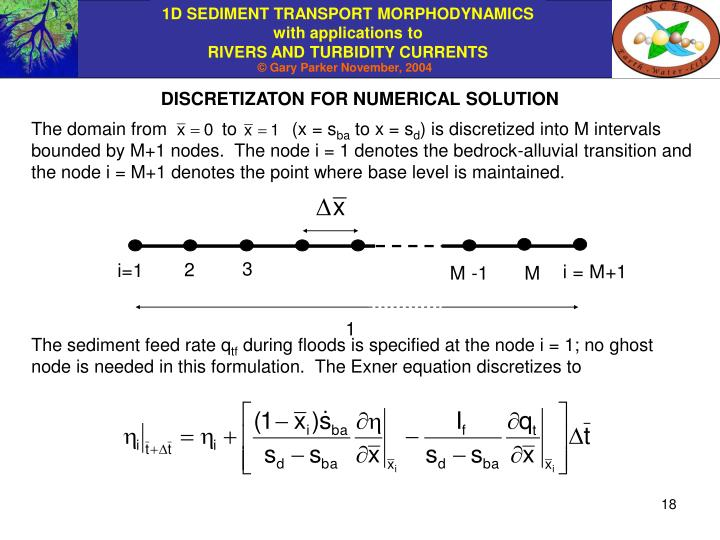 DISCRETIZATON FOR NUMERICAL SOLUTION