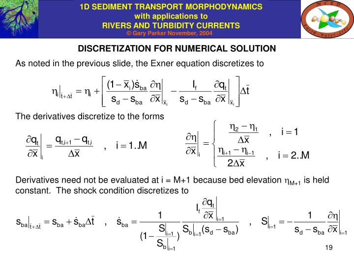 DISCRETIZATION FOR NUMERICAL SOLUTION