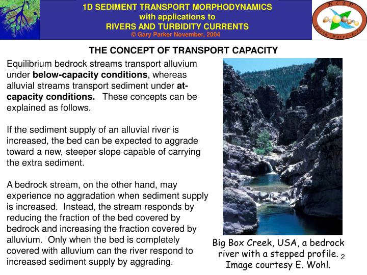 THE CONCEPT OF TRANSPORT CAPACITY