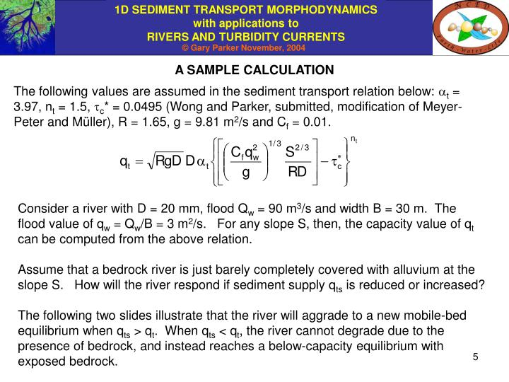 A SAMPLE CALCULATION