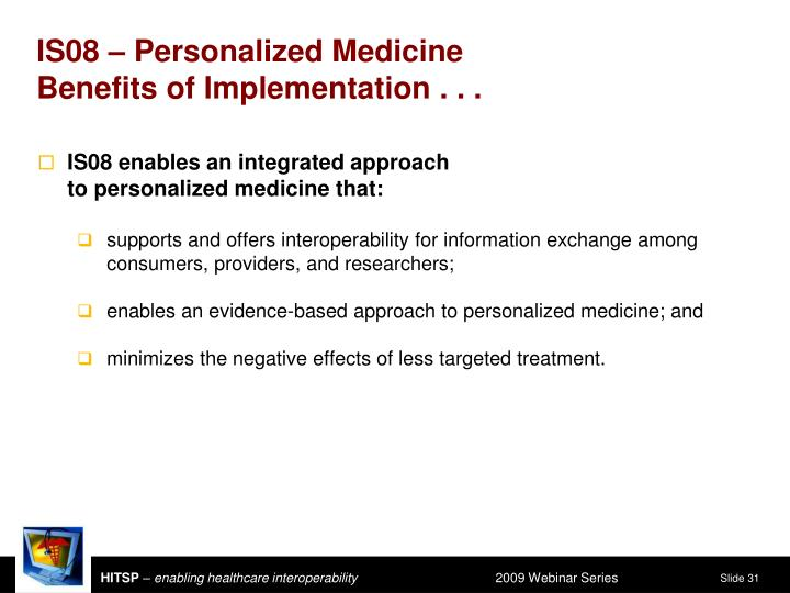 IS08 – Personalized Medicine