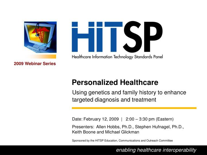 Personalized Healthcare