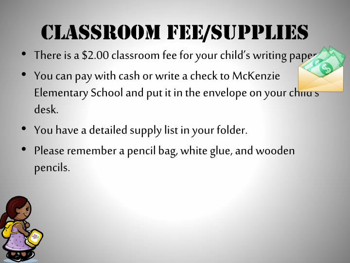 Classroom Fee/Supplies