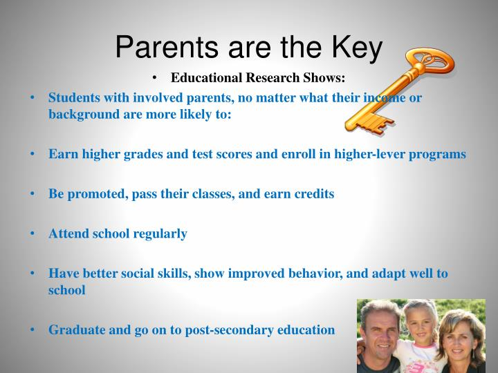 Parents are the key