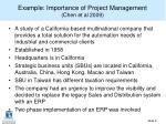 example importance of project management chen et al 2009